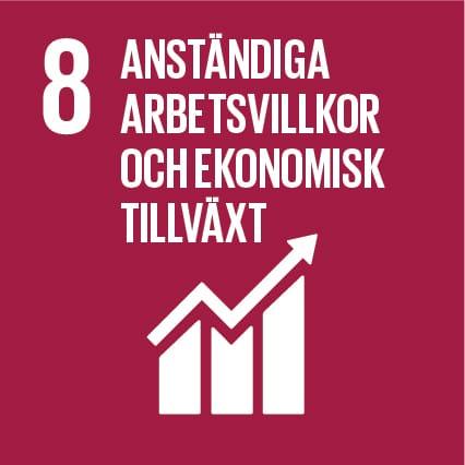 1. Anständiga arbetsvillkor och ekonomisk tillväxt